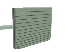 1000 Litre Thin Tank Mist Green